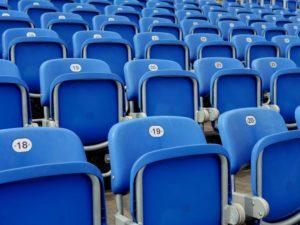 GFL Off Season - Leere Sitze im Stadion